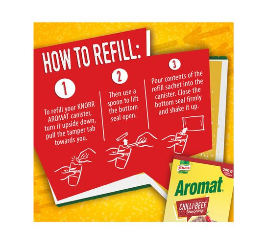 Knorr Aromat Refilll Triopack Chilli Beef (1 x 200G)
