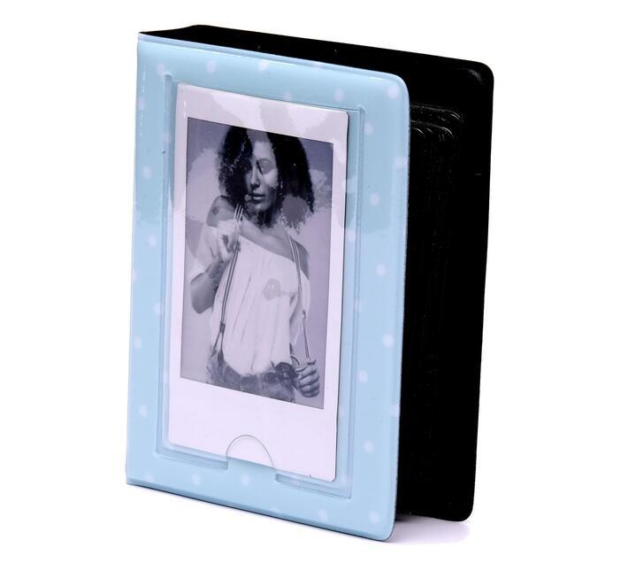 Instax Mini Vinyl Album Dots Ice Blue 32 photos