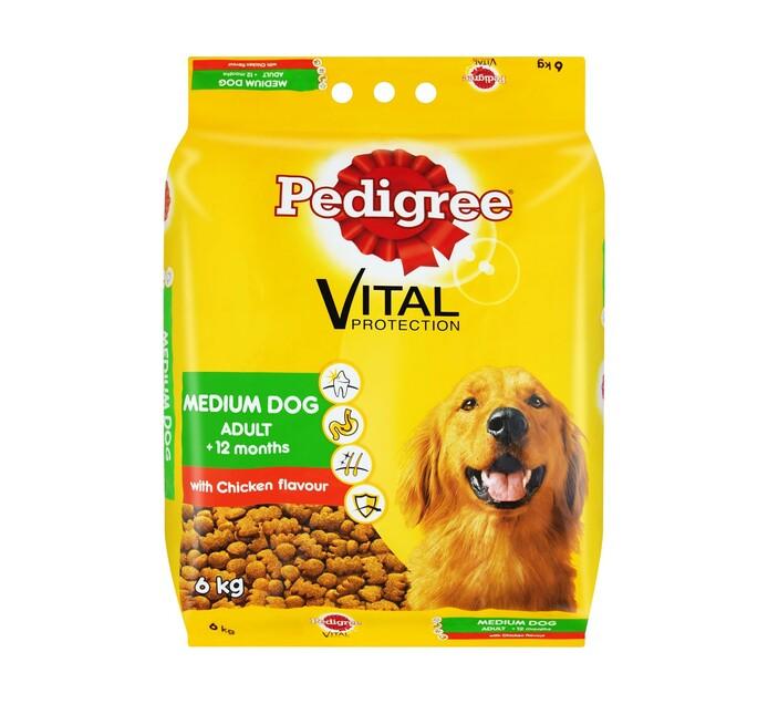 PEDIGREE Medium Dog Dry Food Chicken (1 x 6kg)
