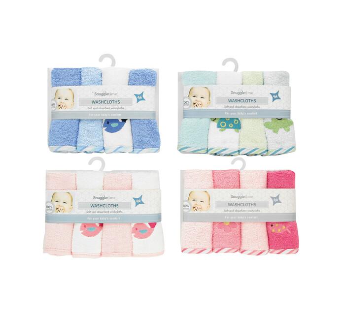 Snuggletime 4-Pack Delux Washcloth