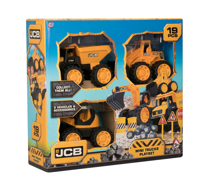 3-pack, 17cm JCB Truck and Accessories