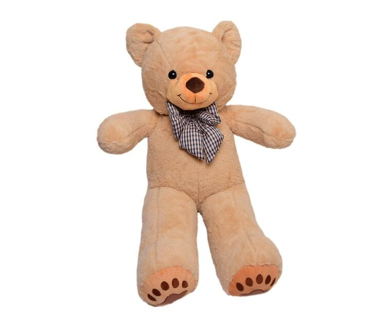 Teddy Bear with a Bow-Tie & Paws - Tan with Mustard Mouth - 80cm