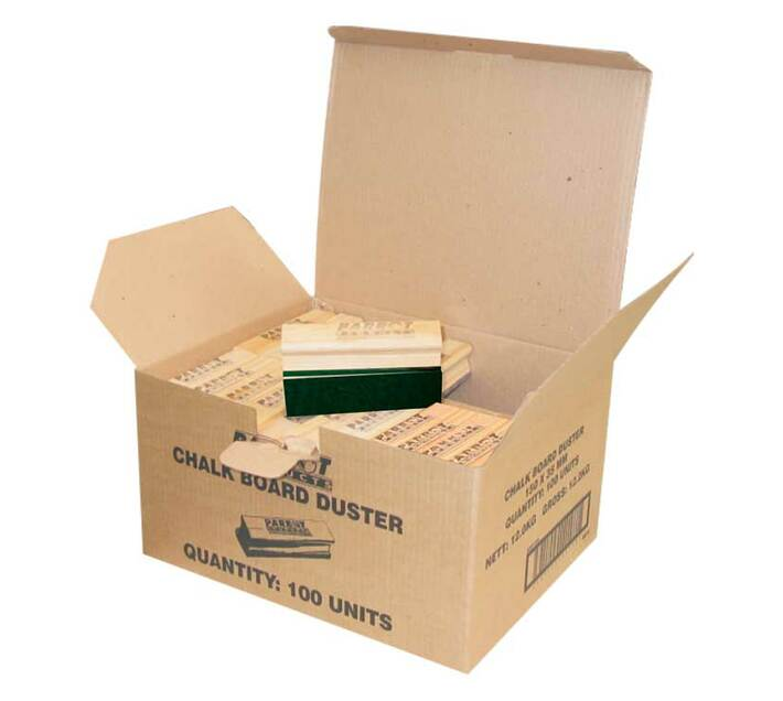 PARROT PRODUCTS Chalk Board Dusters (150*35mm, Boxed 100, Green)