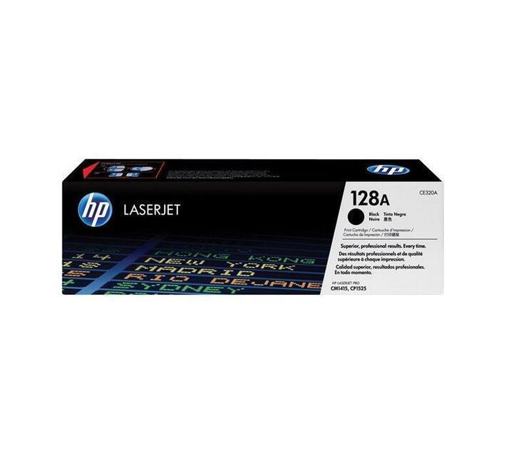 HP 128A Black original LaserJet toner cartridge CE320A for Color