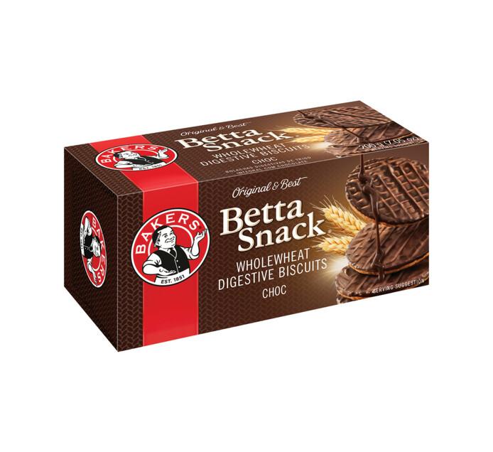 Bakers Betta snack Biscuits Milk Chocolate (1 x 200g)