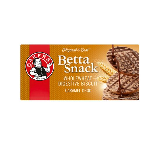 Bakers Betta snack Biscuits Caramel Chocolate (12 x 200g)