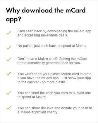 mCard & mRewards | Makro Deals & Rewards | Makro Online